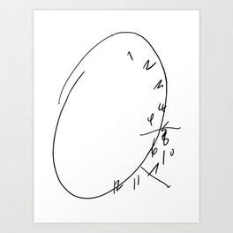 Hannibal Clock Art Print