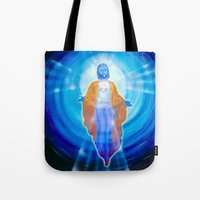 jesus Tote Bags featuring Jesus by Walter Zettl