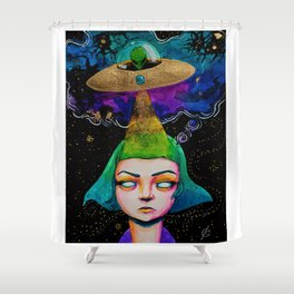 Thought Invaders Shower Curtain