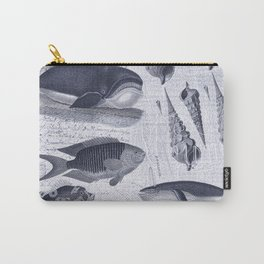 Deep Blue Whale Carry-All Pouch