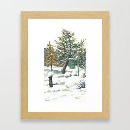 Briars Golf Course, December Framed Art Print