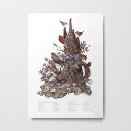 Stump (with labels) Metal Print
