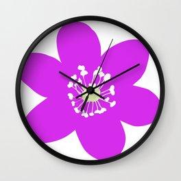 Flower Anemone Hepatica Red Wall Clock