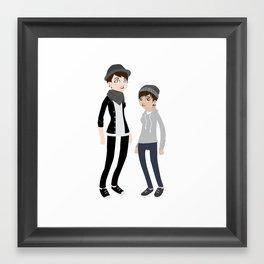 Girlfriend + I Framed Art Print
