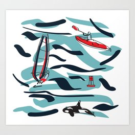 A Day on the Water Art Print