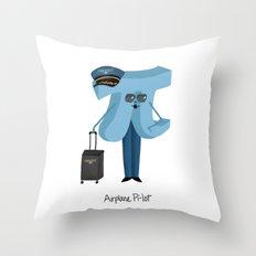 Airplane Pi-lot Throw Pillow