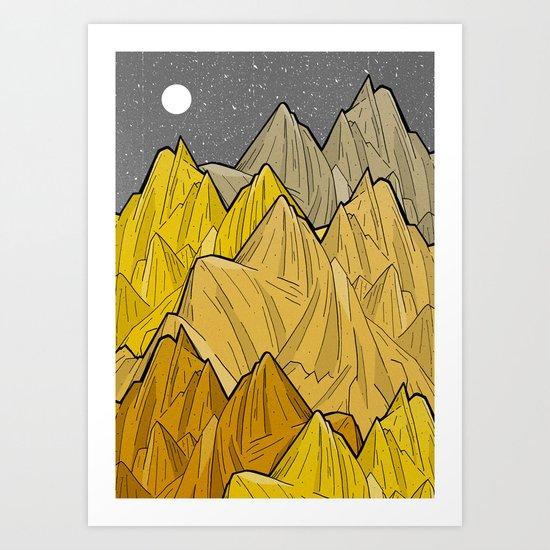 The Golden Mountains Art Print