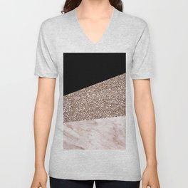 Black Forest Marble Unisex V-Neck