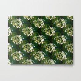 Hills-of-snow hydrangea pattern Metal Print