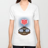 video games V-neck T-shirts featuring I love Video Games  by Shihab Aldeen
