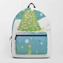 Snowman on Christmas Day Backpack