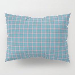 Aqua Rose Scottish Tartan Pillow Sham