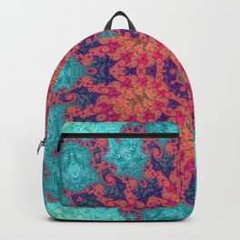 Rainbow Fractal Kaleidoscope Backpack