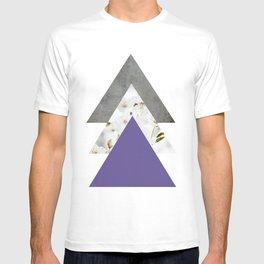 Ultra Violet Blossoms Arrows T-shirt