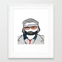 tenenbaum Framed Art Prints featuring Richie Tenenbaum by daniel davidson