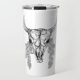 Cow Skull Travel Mug