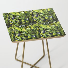 Northern Lights Abstract Painting Side Table