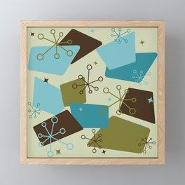 Mid Century Modern Futuro (teal) Framed Mini Art Print