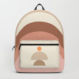 Abstraction Shapes 10 in Neutral Shades (Sun and Window abstraction) Backpack