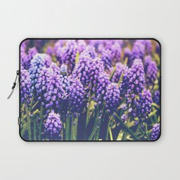 Vintage purple flowers Laptop Sleeve