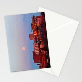 March Moonset in Portland, Maine (2) Stationery Cards