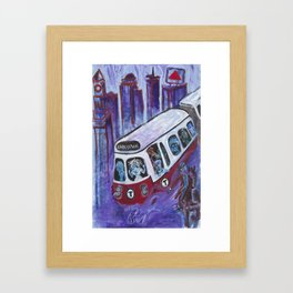 Ghost Train Framed Art Print
