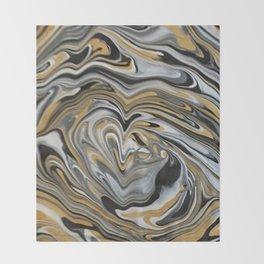 Melting Metals Throw Blanket