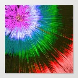 Textured Starburst Tie Dye Canvas Print