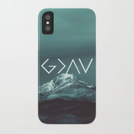 Christian Quote - God is greater than the highs and lows iPhone Case