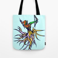 archer Tote Bags featuring Atlantean Archer by Robert Cooper
