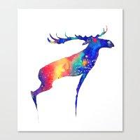 moose Canvas Prints featuring Moose by Verismaya