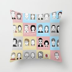 Sad Movie Couples Throw Pillow