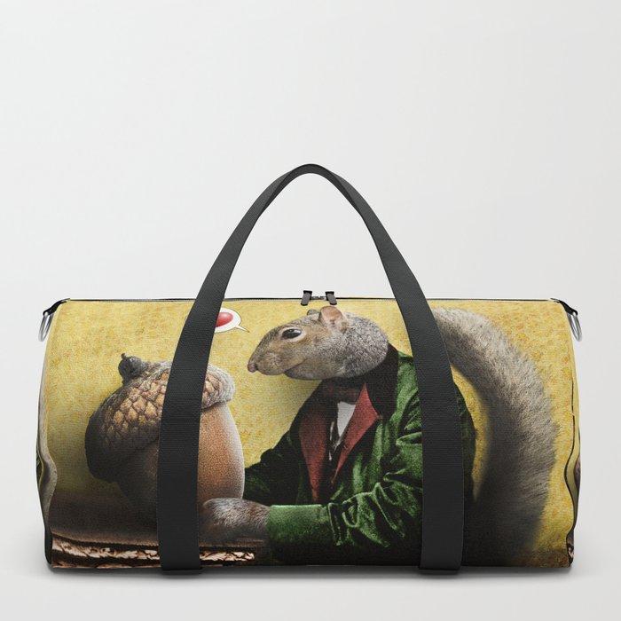 Mr. Squirrel Loves His Acorn! Duffle Bag