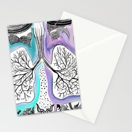 Blooming of the lungs Stationery Cards