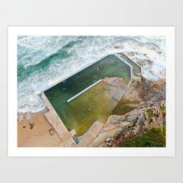 Curl Curl Beach Natural Pool Art Print