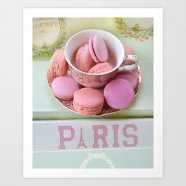 Paris Laduree Macarons Art Print