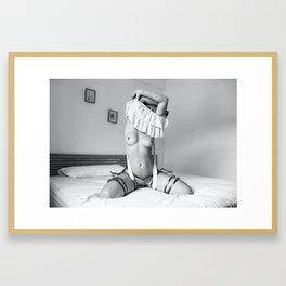 undressing Framed Art Print