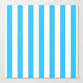 Blue and whie stripes Canvas Print