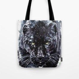 Panther watercolor painting predator animals puma jaguar wild & fre Tote Bag