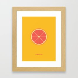 grapefruit Framed Art Print