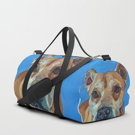 Happy the Bully Dog Portrait Duffle Bag