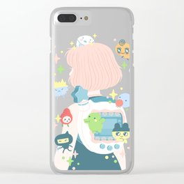 tamagotchi fever Clear iPhone Case