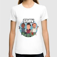 grand theft auto T-shirts featuring Grand Theft Auto V Cartoon by Aaron Lecours