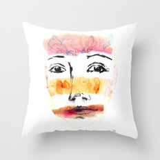 Head Shot #3 Throw Pillow