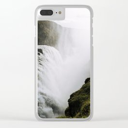 Gullfoss waterfall in Iceland - Landscape Photography Clear iPhone Case