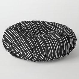 Wide Black Stripe Floor Pillow