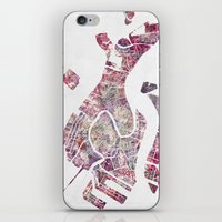 venice iPhone & iPod Skins featuring VENICE by MapMapMaps.Watercolors