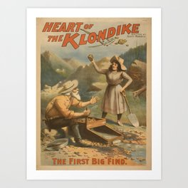 Vintage poster - Heart of the Klondike Art Print
