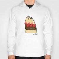 burger Hoodies featuring Burger  by shoobox illustrations