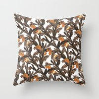 spice Throw Pillows featuring Spice by Marlene Pixley